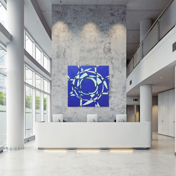 Martin Vogel – Snowflake – mounted in lobby