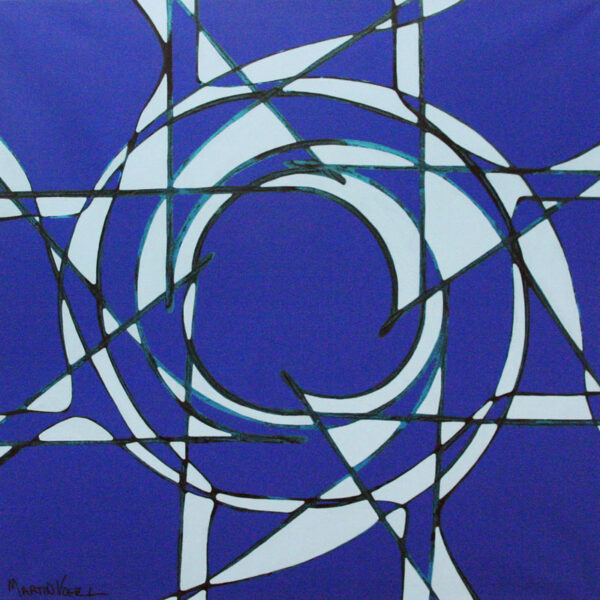 Martin Vogel – Snowflake – paint on wrapped canvas